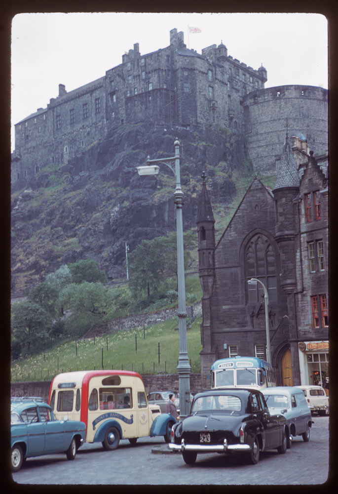 Jun. 17, 1961 - Up at Edinburgh Castle from Grass Market