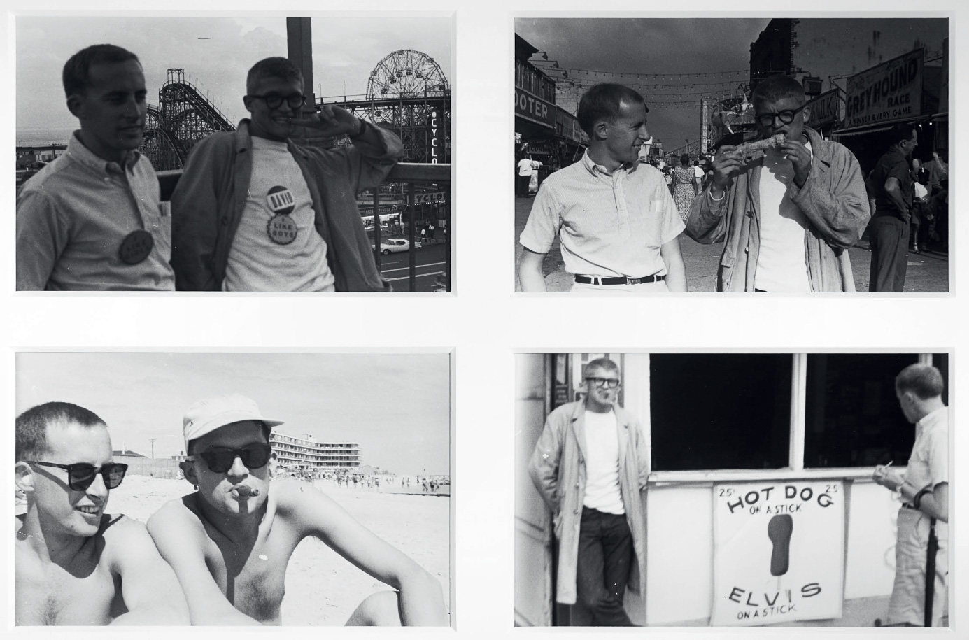 Barrie Bates and David Hockney, Coney Island, New York 1961. Photo Billy Apple from noted.co.nz