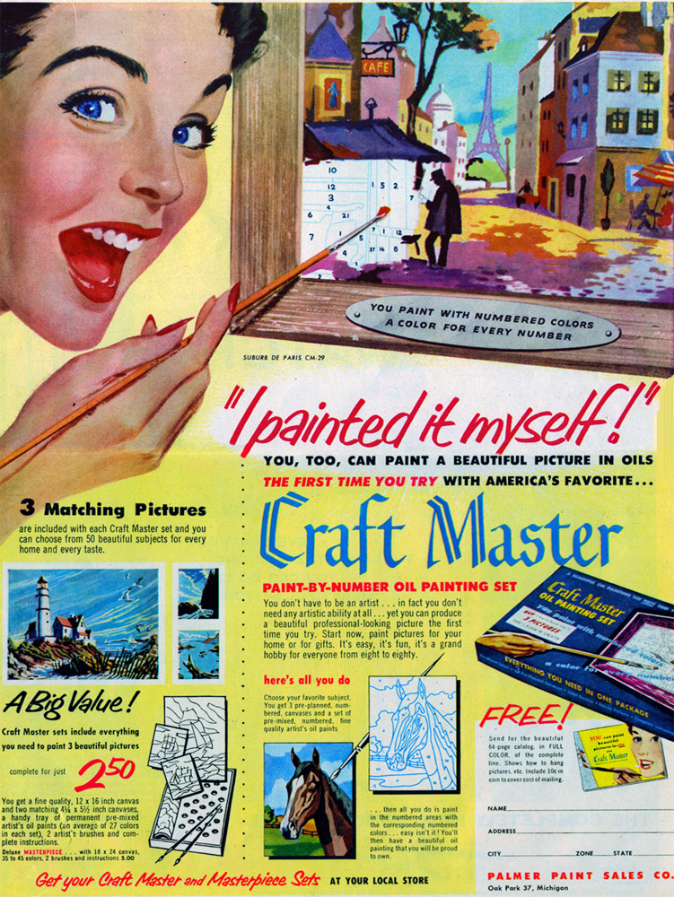 Dan Robbins paint-by-numbers craft master
