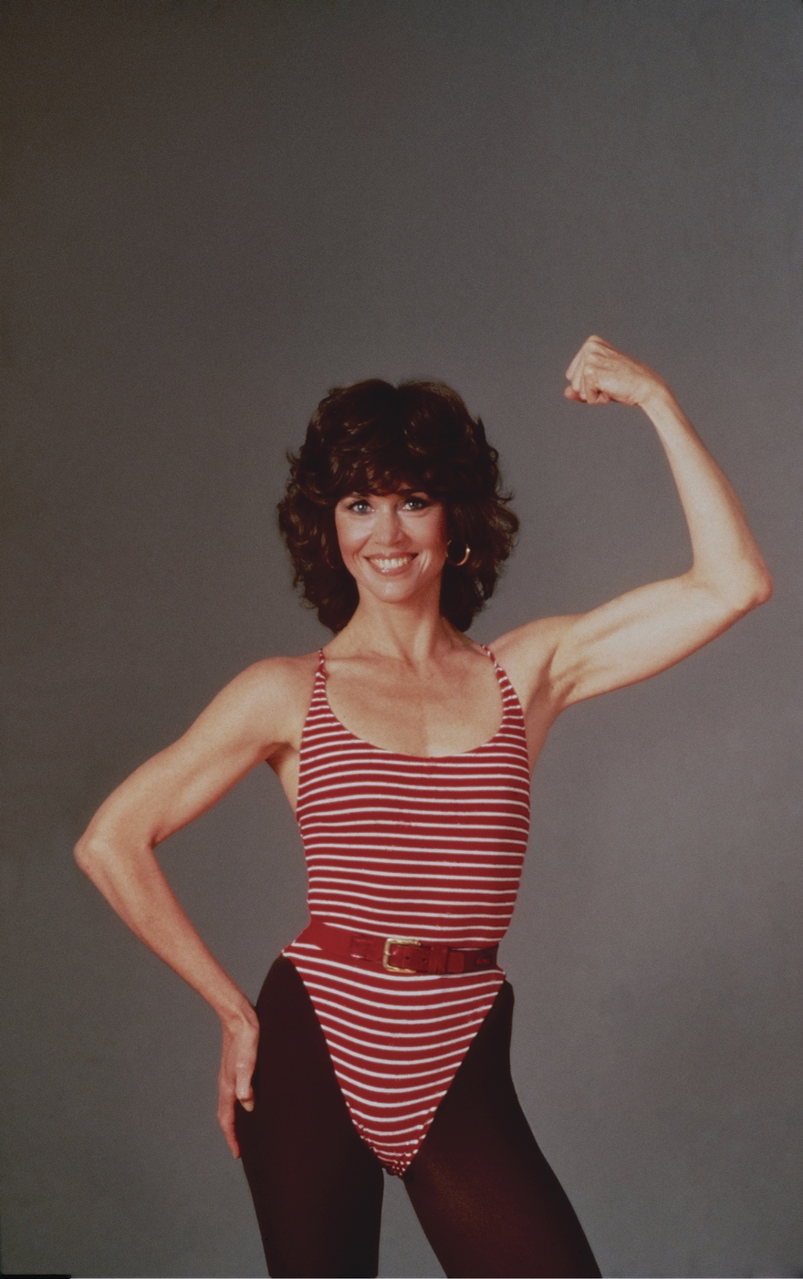 Fonda Posing For Her The Jane Fonda Workout Book 1981 -7824