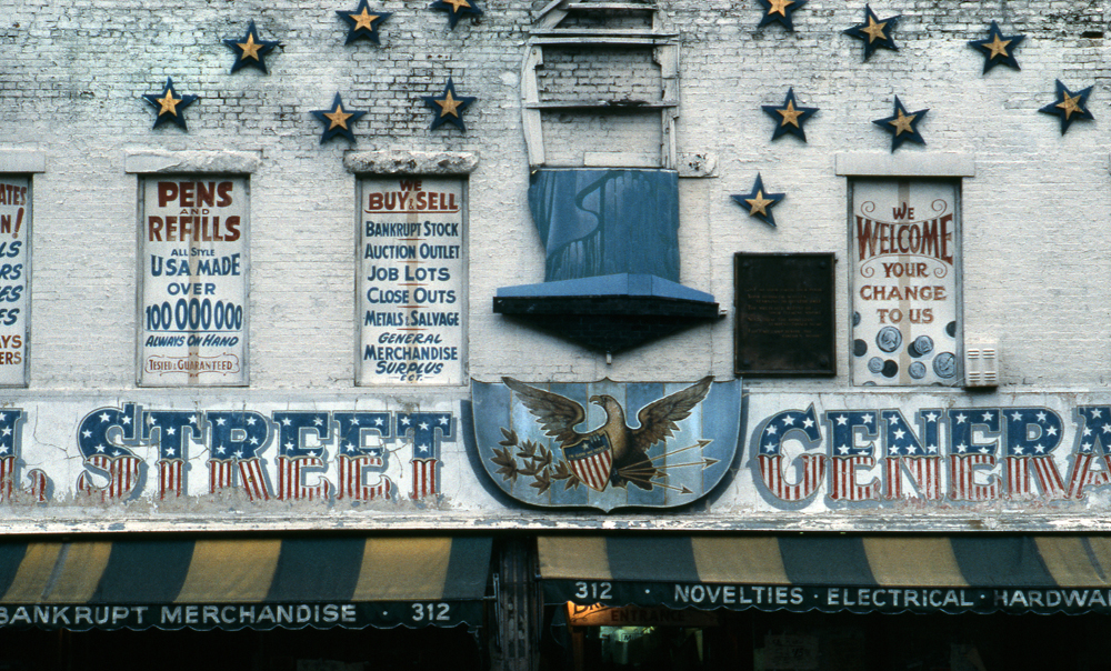 CANAL STREET, GENERAL STORE Manhattan. NY 1978