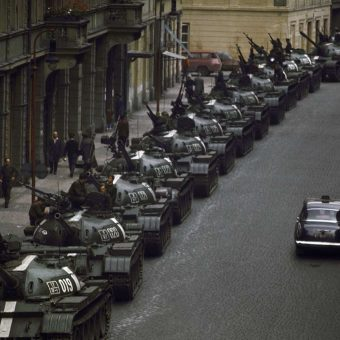 Czech Citizens Take to the Streets to Fight the Soviet-Led Invasion of Their Country After the 1968 Prague Spring