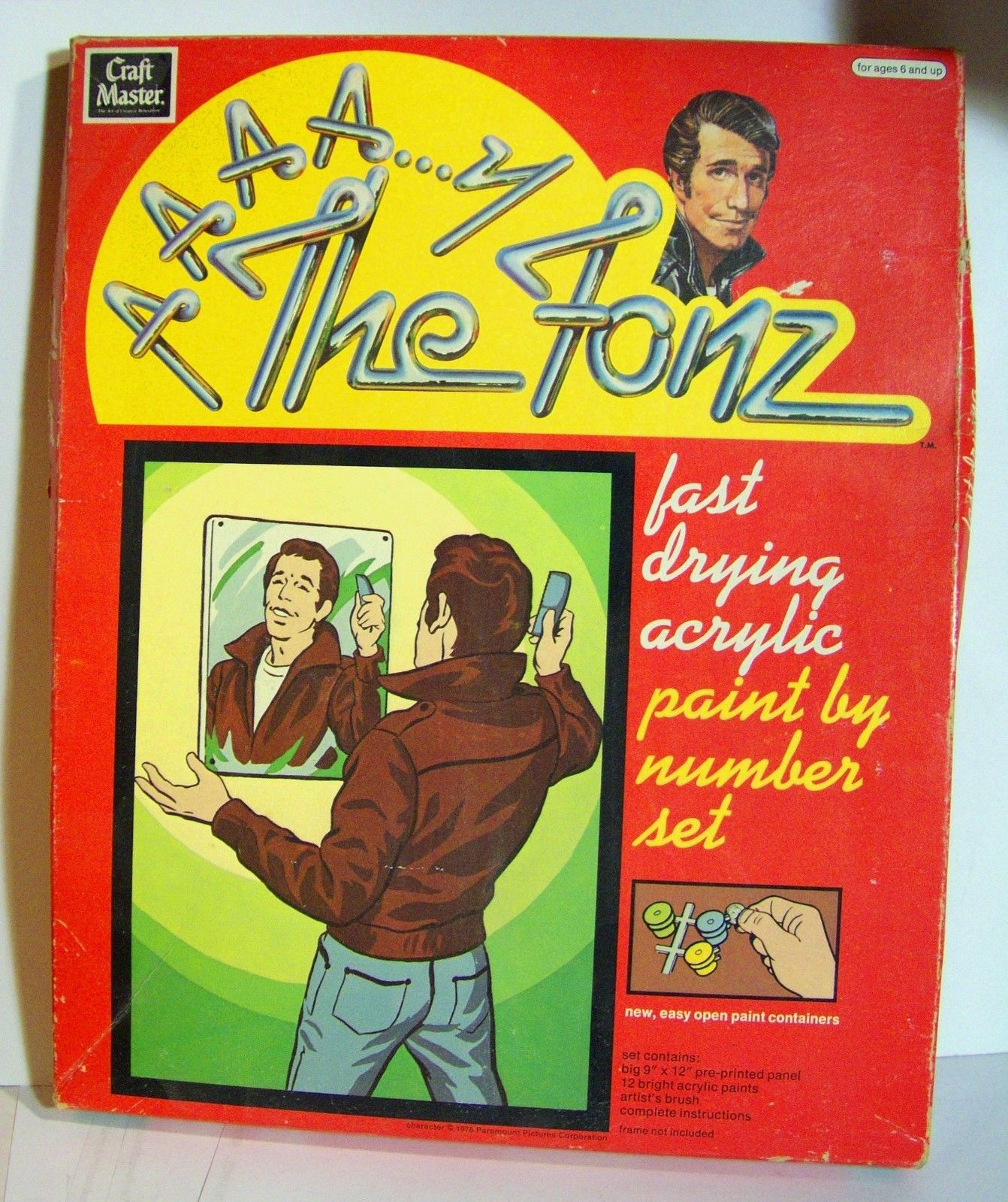 The Fonz Paint By Number Set (Craft Master, 1976)