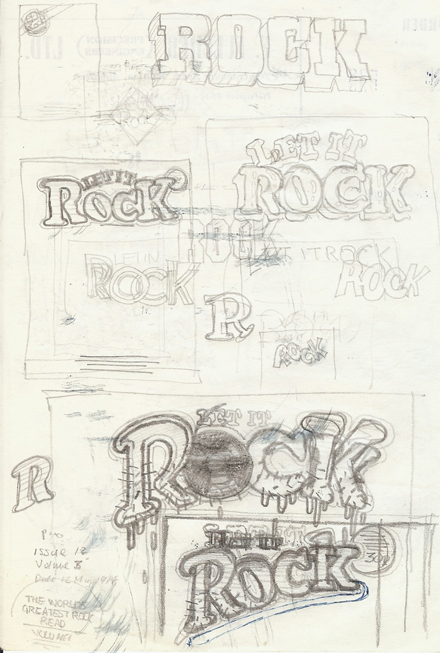 Roughs for Let It Rock redesign on F.Fulcher paper (c) John Pidgeon