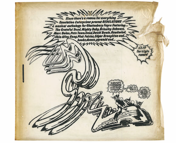 Front of the vinyl sleeve of the Glastonbury Fayre LP, 1972