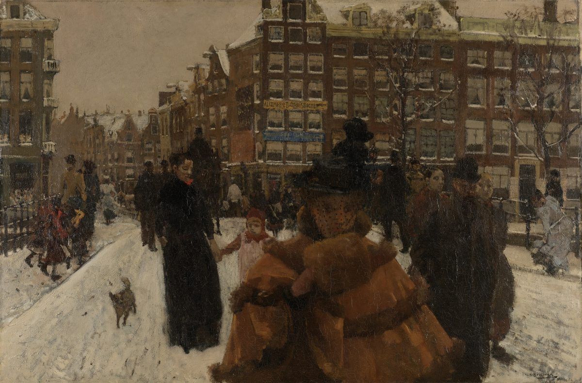The Singel Bridge at the Paleisstraat in Amsterdam, George Hendrik Breitner, 1898
