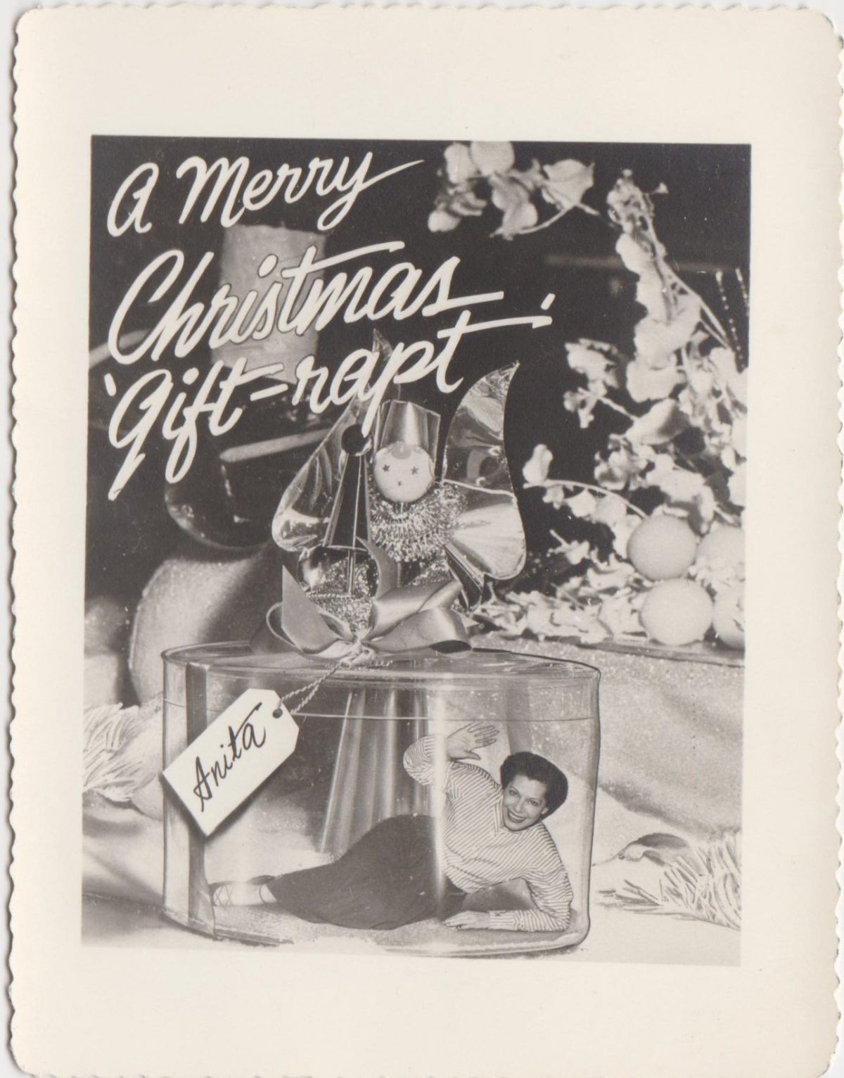 Christmas cards vintage snapshots
