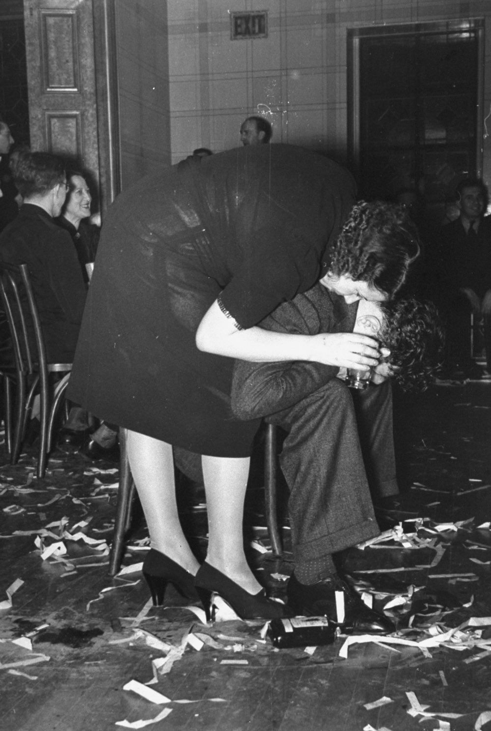 Jan. 1, 1938 A couple after celebrating at the Webster Hall New Year's Party in New York.