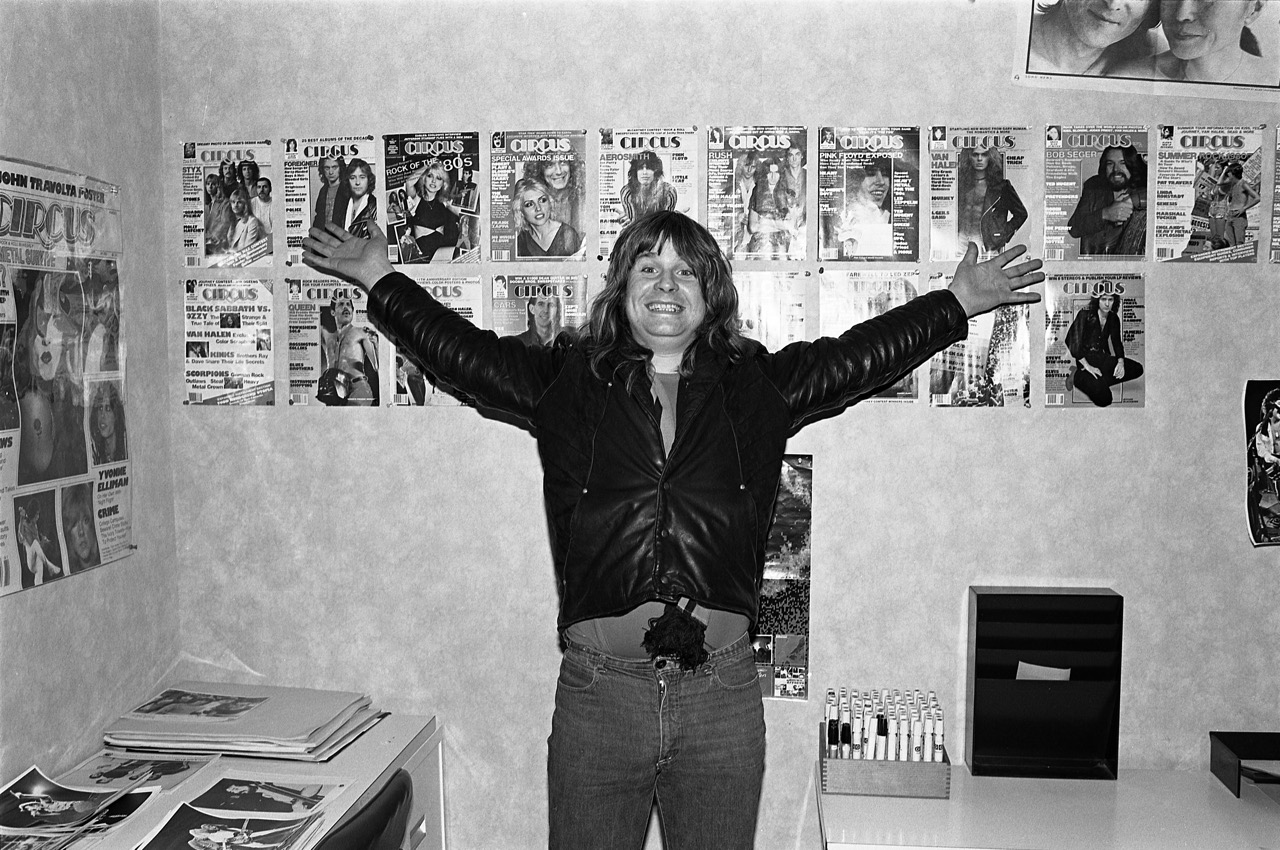 Ozzy at the CIRCUS magazine office in NYC - 1981