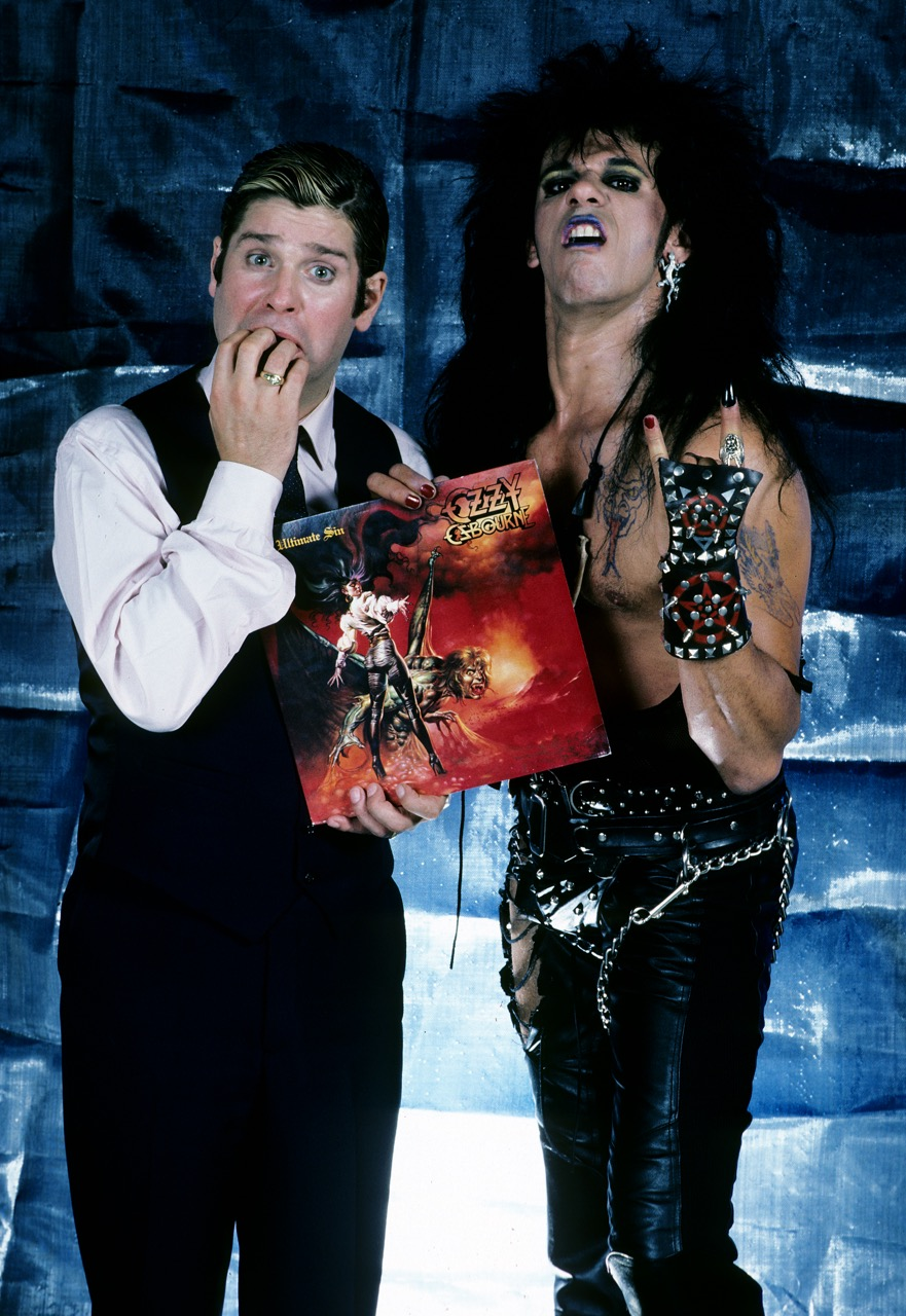 Ozzy and actor Tony Fields in Trick or Treat
