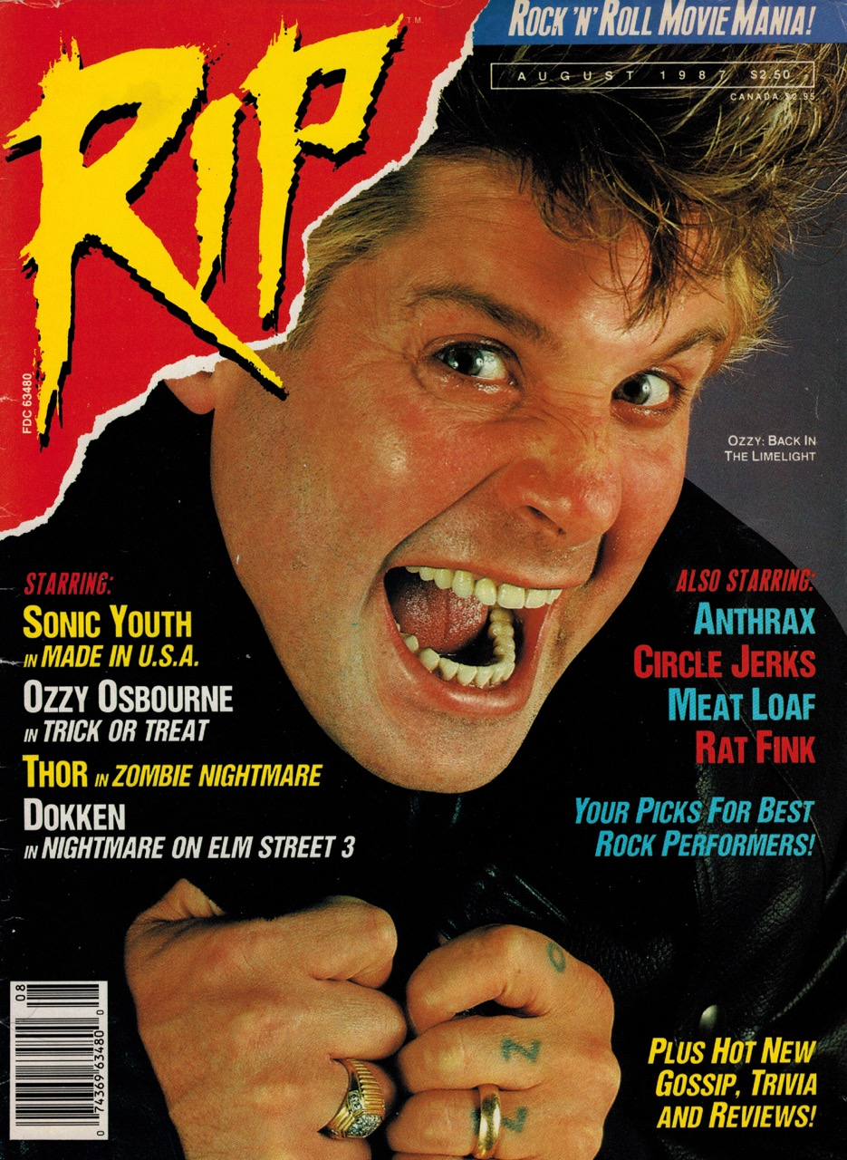 RIP cover August 1987 Ozzy Osbourne