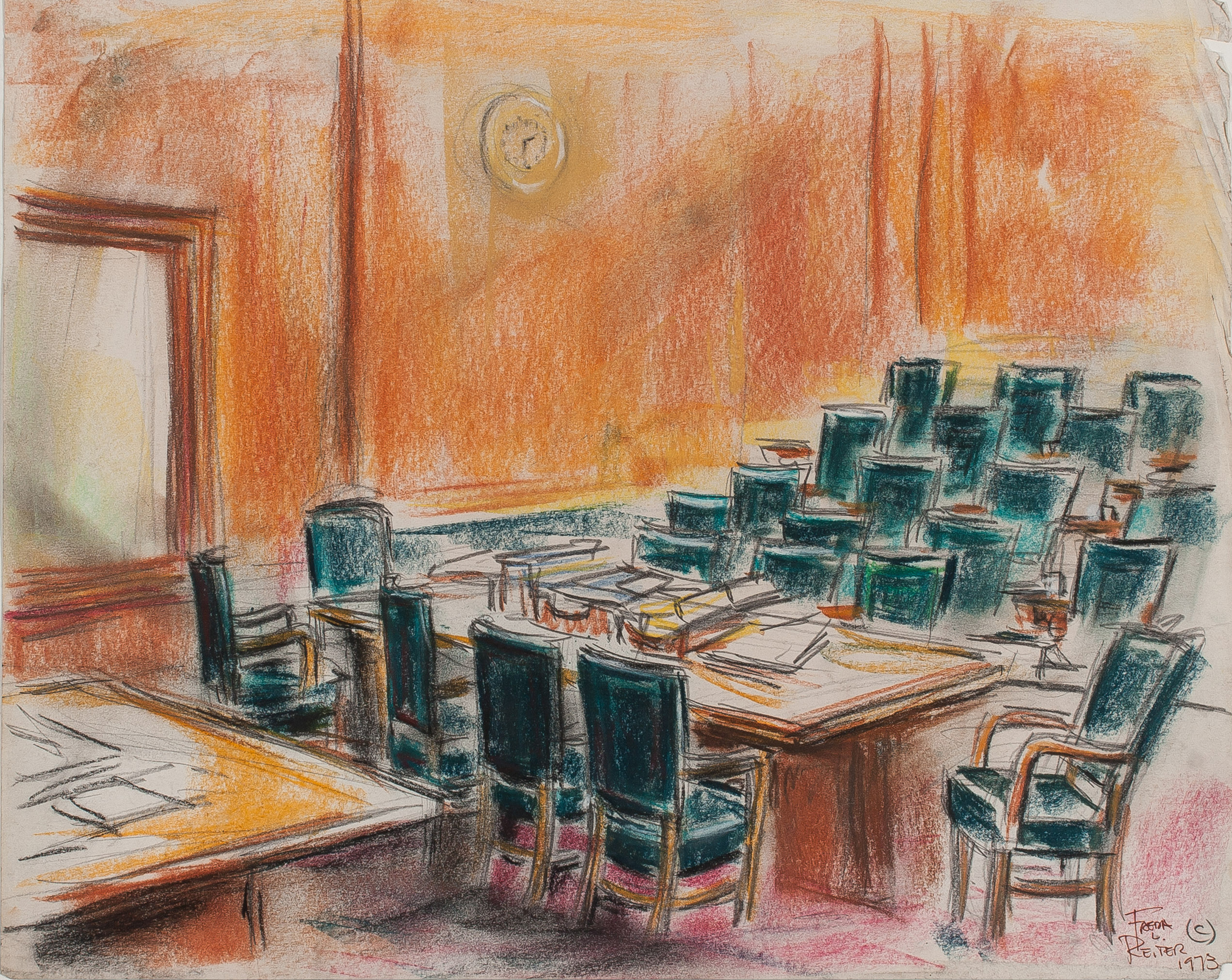 Freda Reiter, Empty Grand Jury Room, Courtesy online Gallery 98