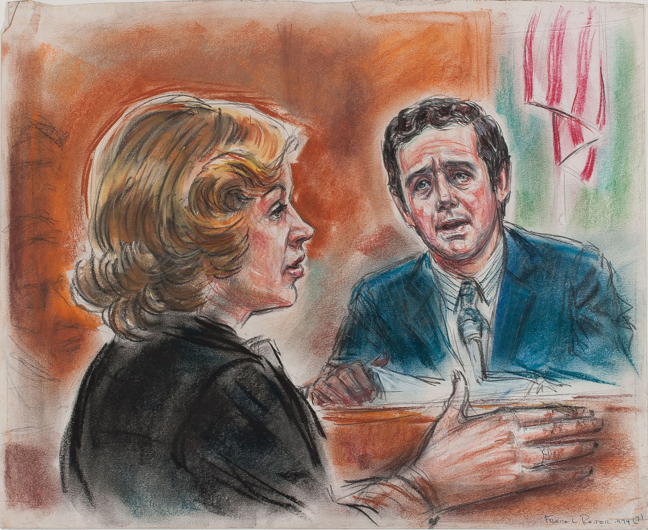 12. Freda Reiter, Prosecutor Jill Wine-Volner Questions Jeb Magruder, Courtesy online Gallery 98