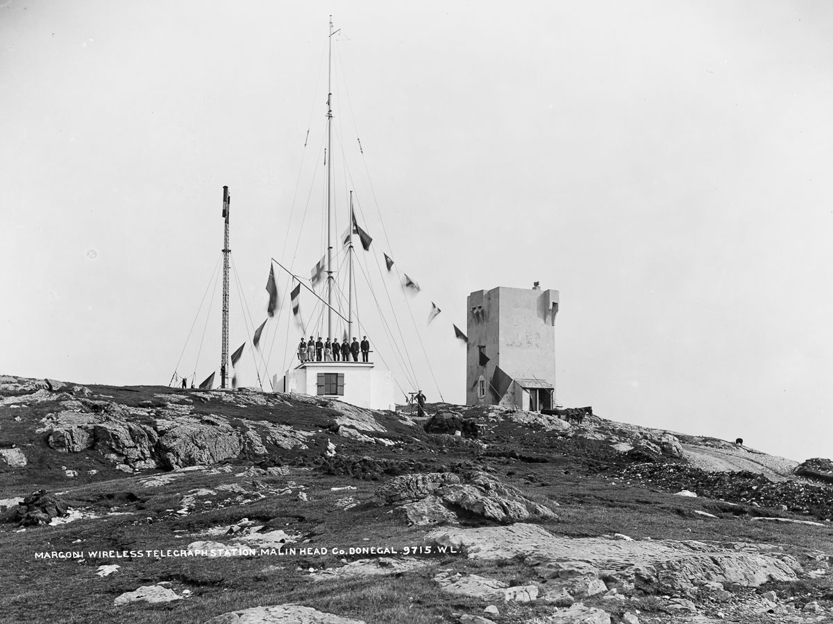 1902 Marconi Wireless Telegraph Station, Malin Head, County Donegal.