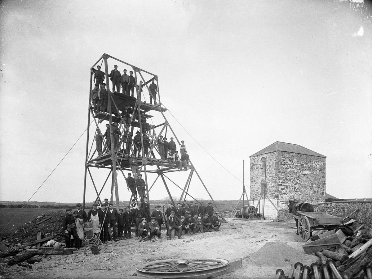 1906 Workers at a mine in Knockmahon, County Waterford