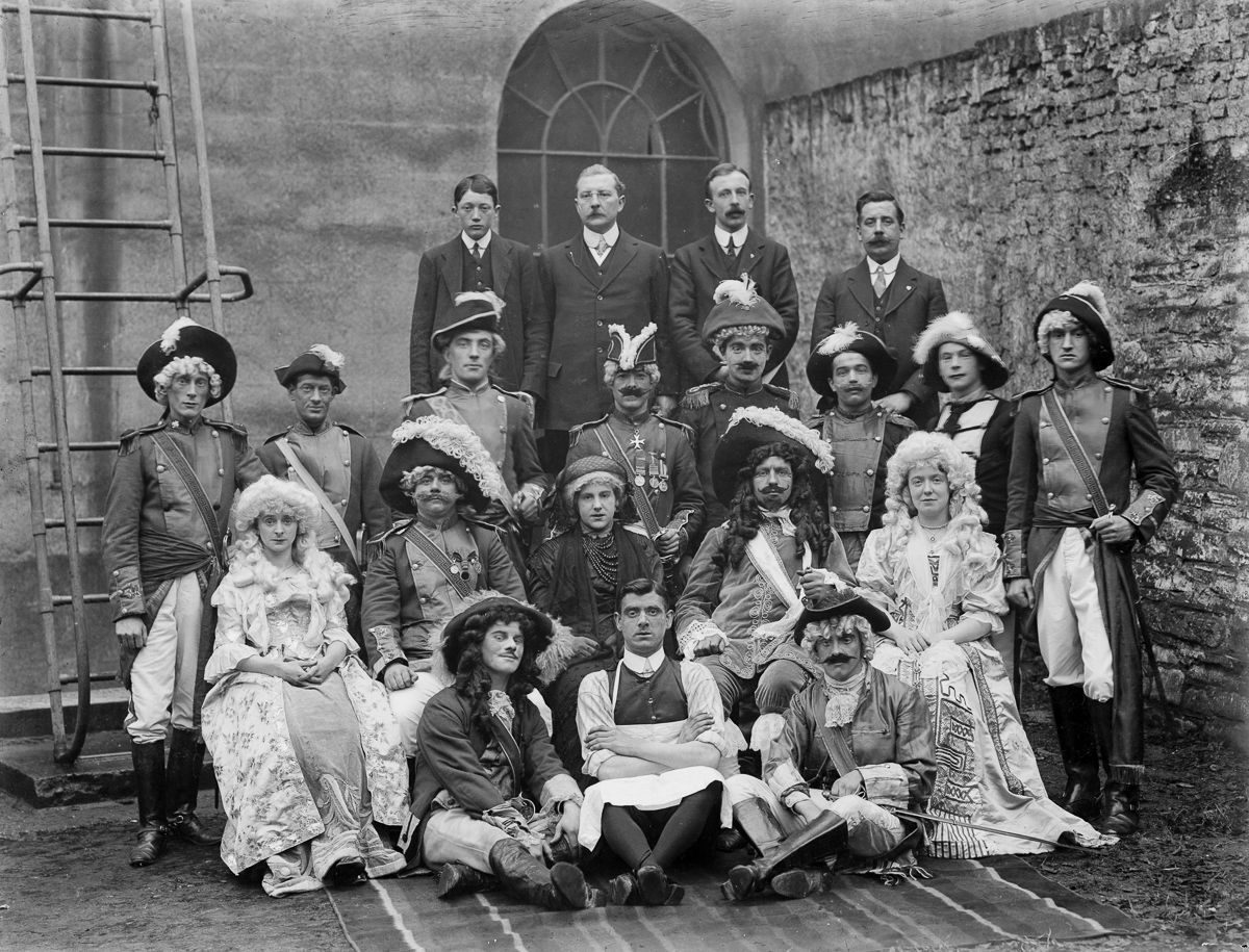 1914 People in costume at the Theatre Royal in Waterford.