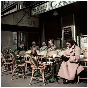 Photographs of the Famous Café de Flore in Paris