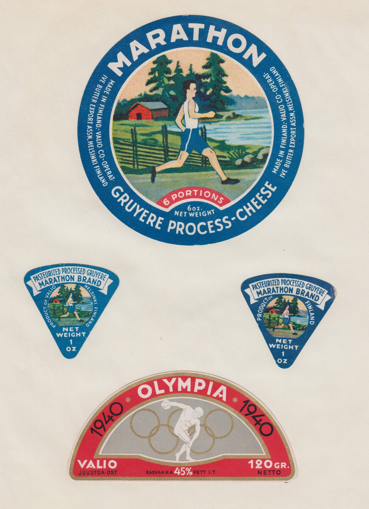 cheese labels vintage