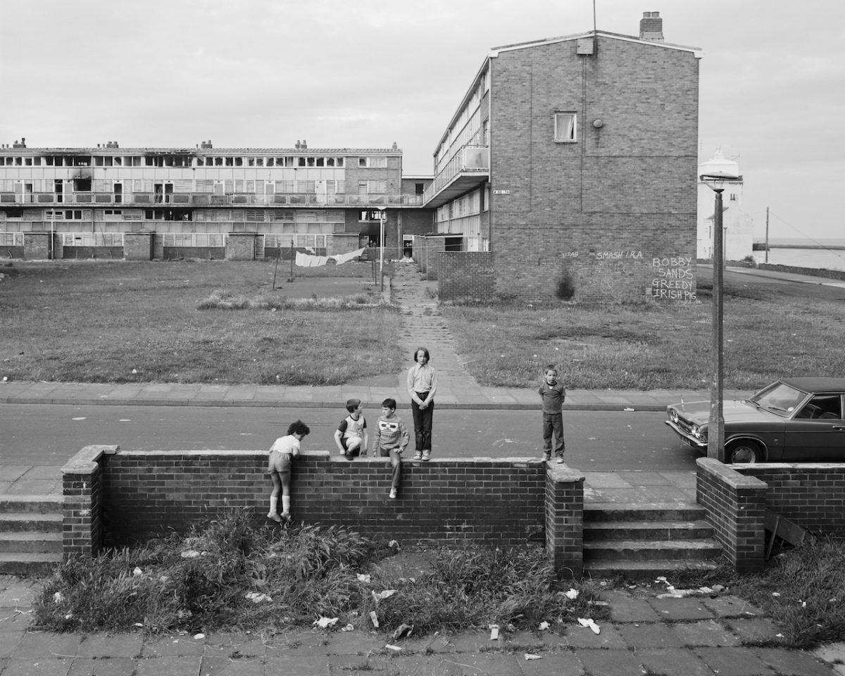 "Chris Killip, from the series 'In Flagrante Two'- ""May 5th 1981, North Shields, Tyneside"" (1981), gelatin silver print (© Chris Killip, courtesy Yossi Milo Gallery, New York)"