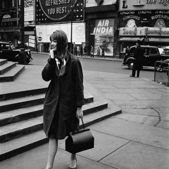 Photographs of Singer Françoise Hardy in London