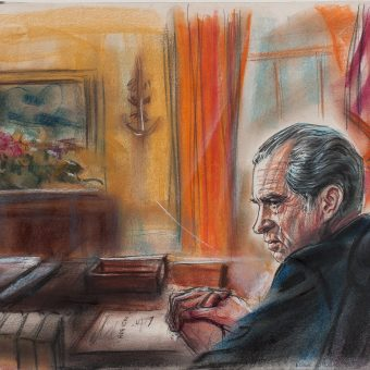 Watergate Courtroom Sketches by Freda L. Reiter: Drawing Nixon and The President's Men 1973–75
