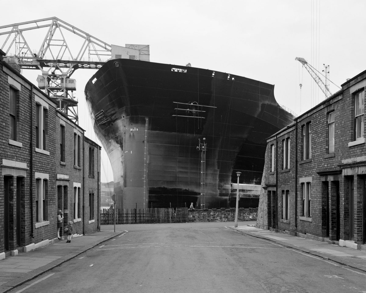 Tyne Pride at the end of the street, Wallsend. Given by the artist in honour of all the shipyard workers of Tyneside, 2017© Chris Killip