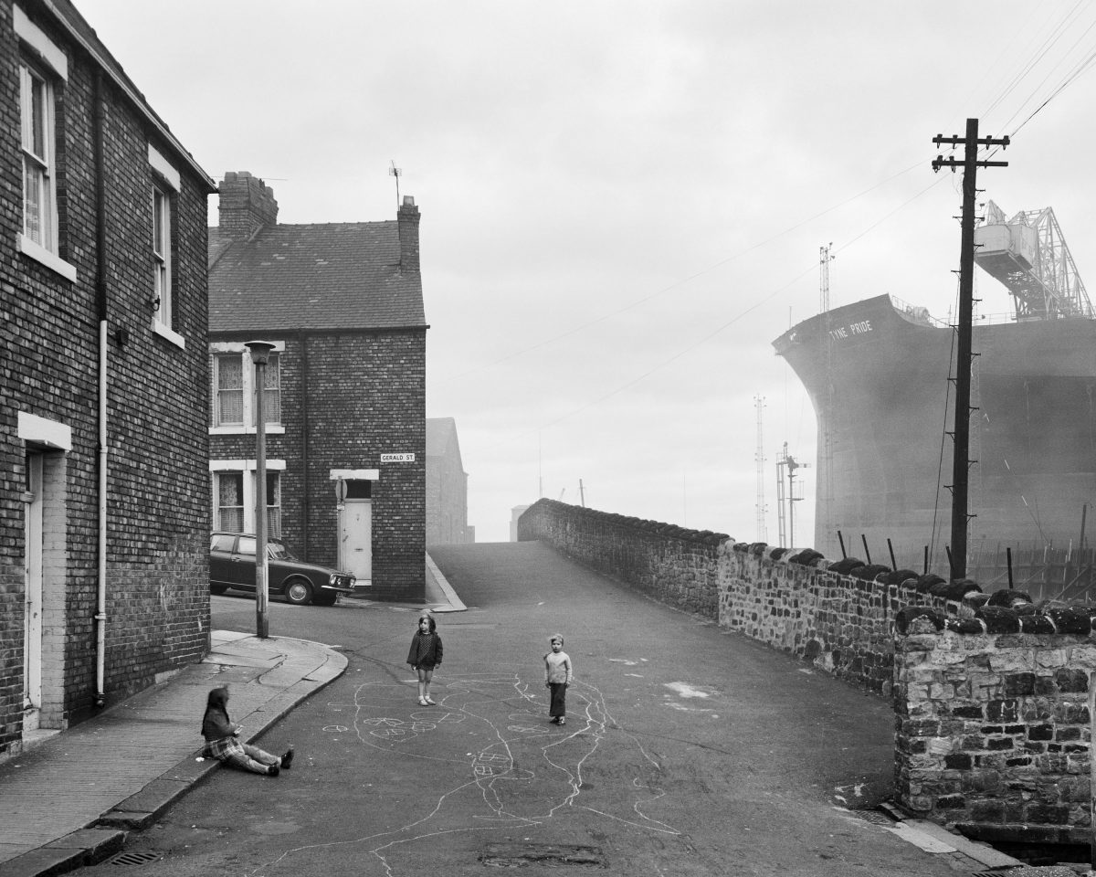Wallsend Housing Looking East, 1975. Given by the artist in honour of all the shipyard workers of Tyneside, 20172017© Chris Killip