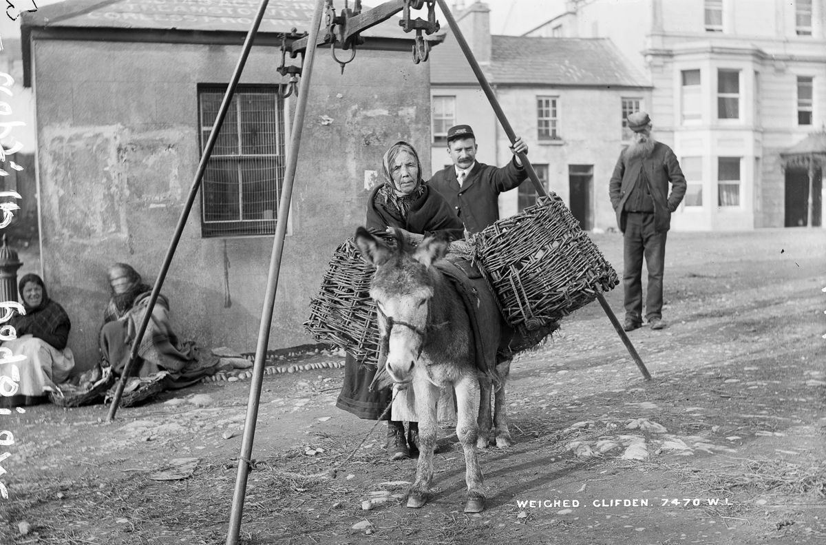 c. 1908 A weigh station in Clifden, County Galway
