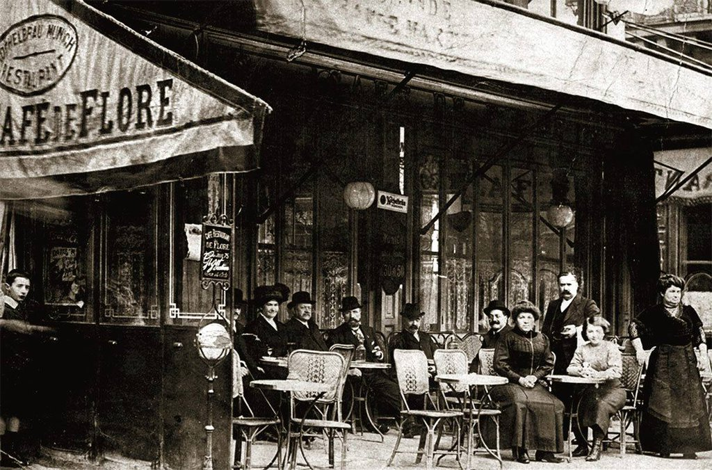 Photographs Of The Famous Caf 233 De Flore In Paris Flashbak