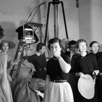 Wonderful Photos Backstage at a Frances McLaughlin-Gill Glamour Magazine Shoot in 1952