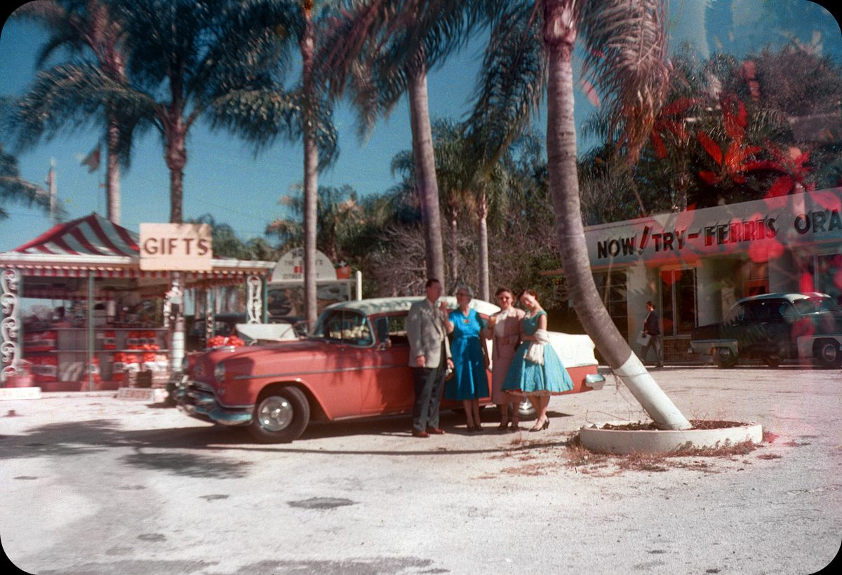 Kodachrome American 1950s 1960s cars vacations