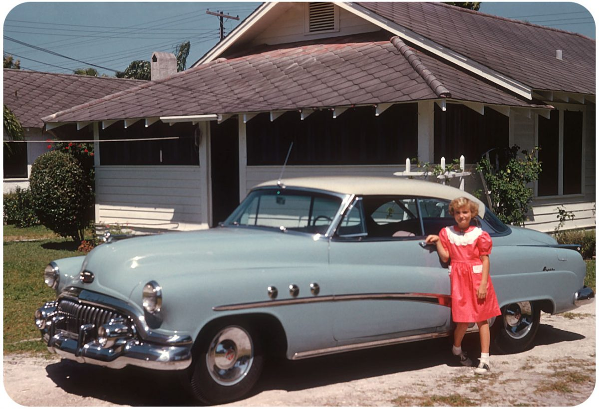1952 Buick Super — Clearwater, FL Period photo taken in front of a Cracker frame home somewhere in Clearwater.