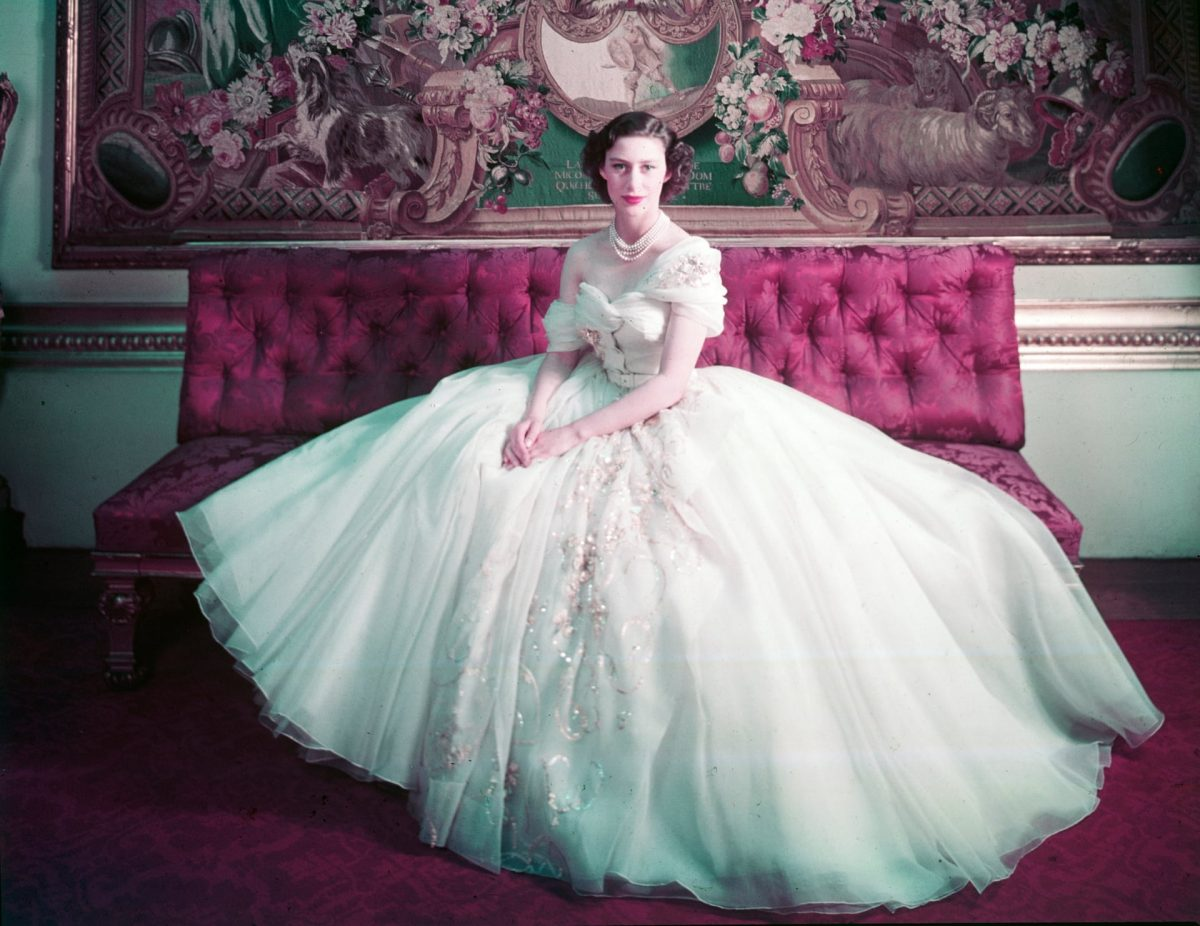 Cecil Beaton's photograph of Princess Margaret in a Dior dress for her 21st birthday. Photograph- Cecil Beaton