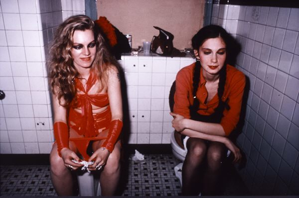 Cookie and Millie in the Girl's Room at the Mudd Club, New York City by Nan Goldin 1983