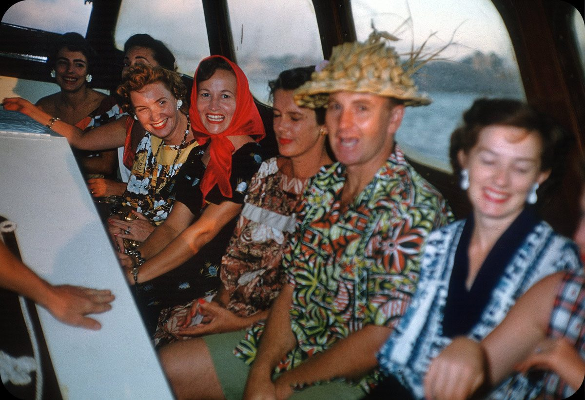 Boat Ride to Luau – 1950s Oahu, Hawaii