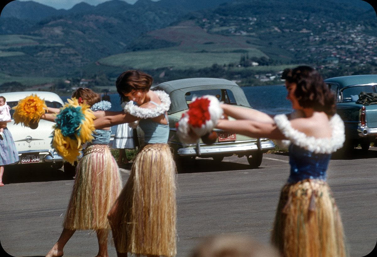 Hula Dance on Ford Island, Honolulu, Hawaii – 1950s
