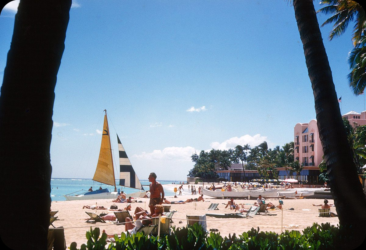 Royal Hawaiian, Waikiki, Honolulu, Hawaii – 1956