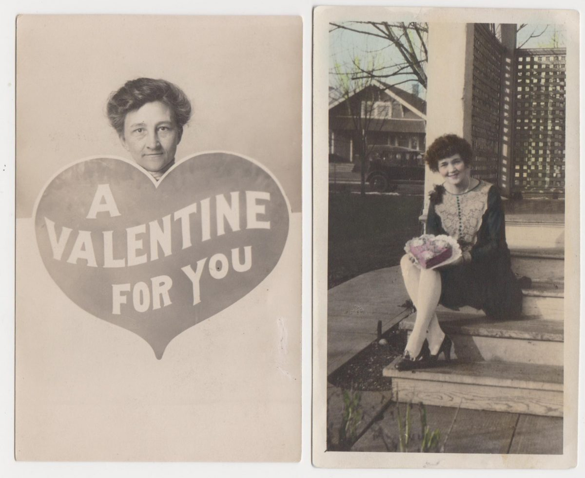 St Valentine cars hearts vintage photos