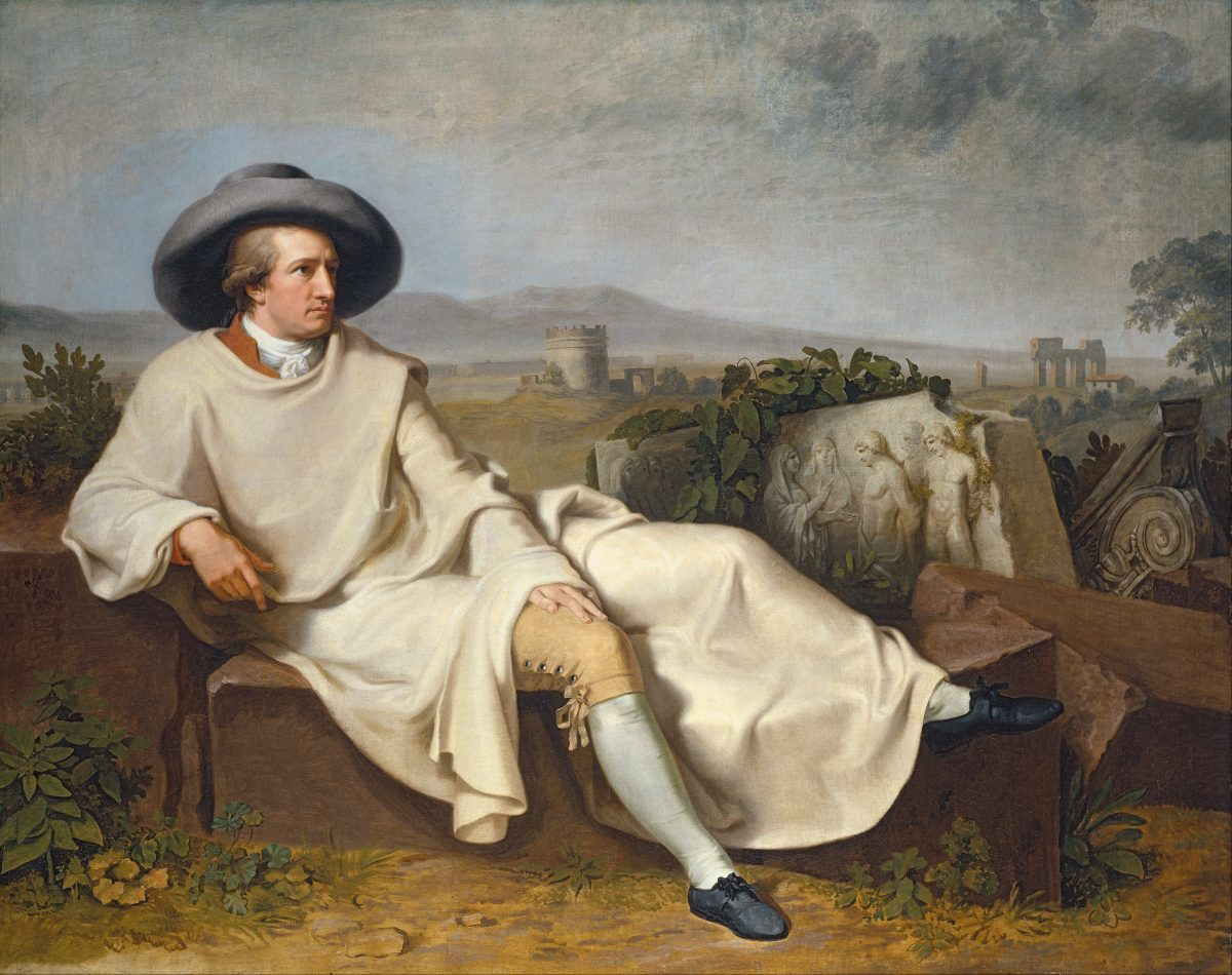 Tischbein's most famous painting: Goethe in the Roman Campagna