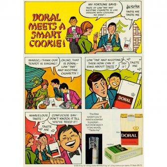 """Taste Me!"" – Carcinogenic Comics: Doral Cigarette Ads For Kids"