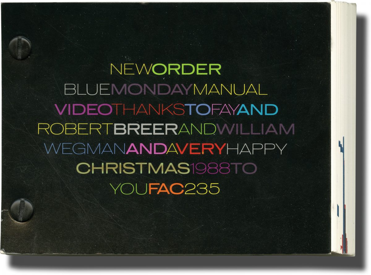 Factory Records flipbook New Order Blue Monday