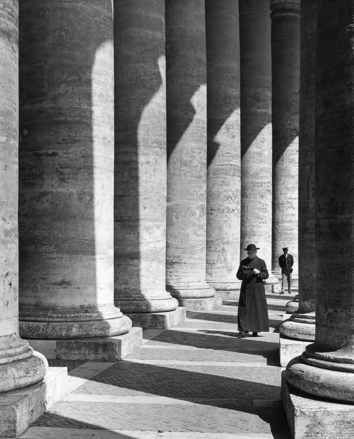 The colonnade, St Peter's Square, 1960 rome