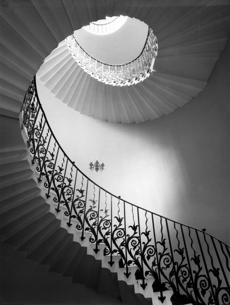 Tulip staircase, Queens House, Greenwich, London. Edwin Smith