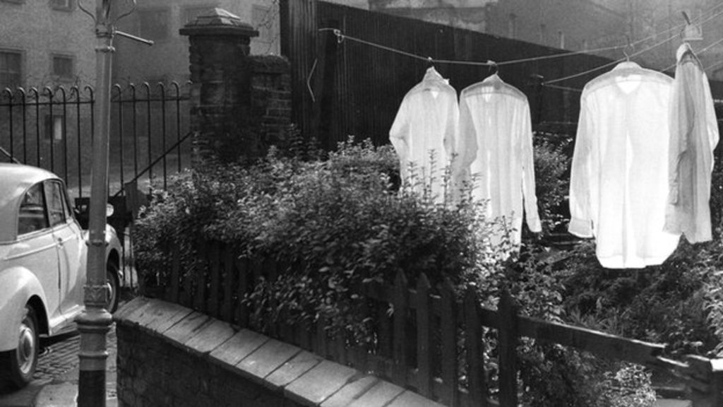 Back-street garden, Camden Town, London, 1960