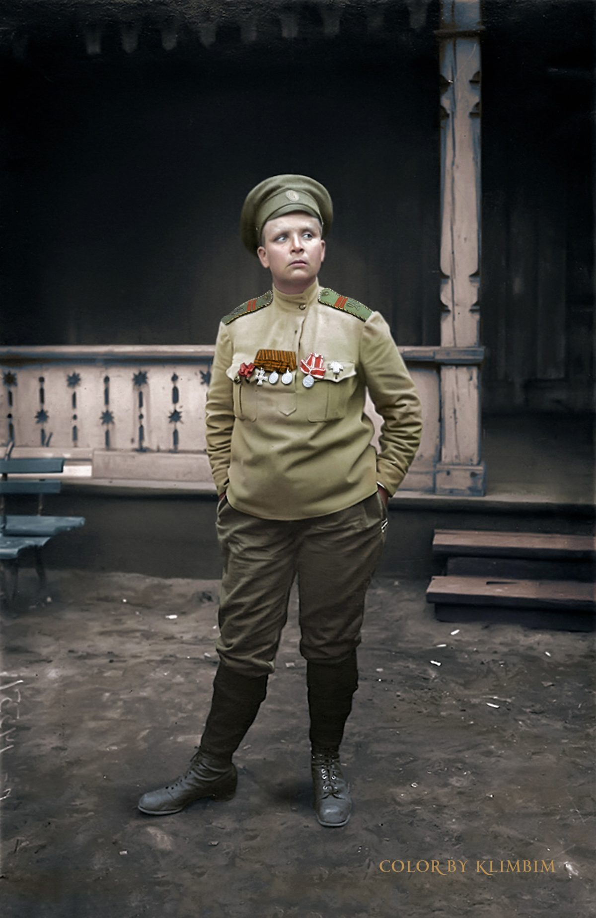 Maria BochkarevaRussia color World War 1 colour