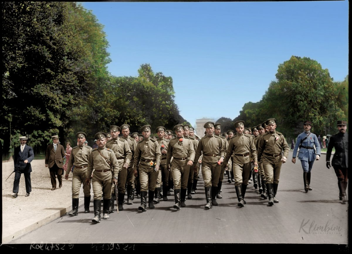 Russia color World War 1 colour