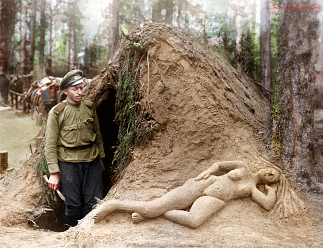 russian-scout-alekseev-and-his-sculpture-of-moist-sand-wwi_