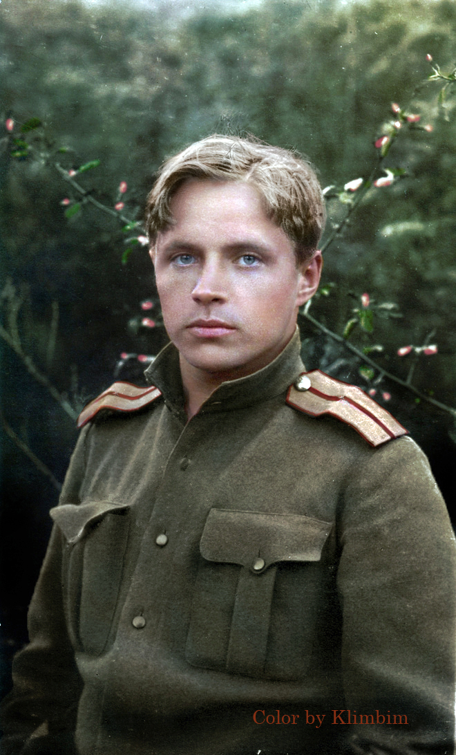 Captivating Colorized Portraits of Russian Fighters In World War 1