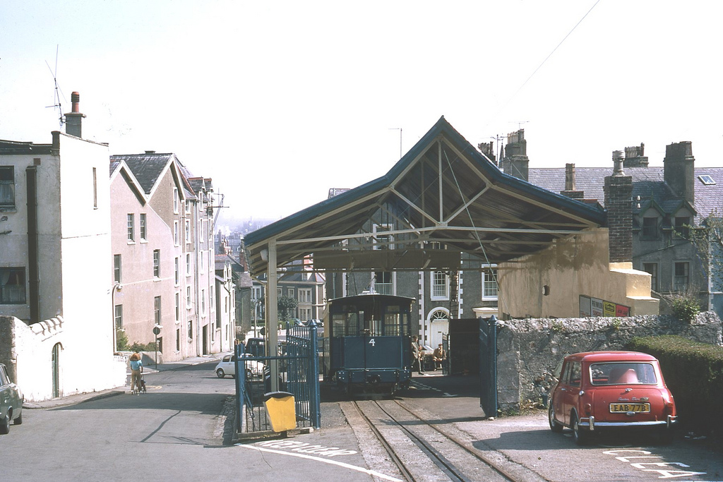 1971 GREAT ORME RAILWAY Bottom Station of the Great Orme Railaway.