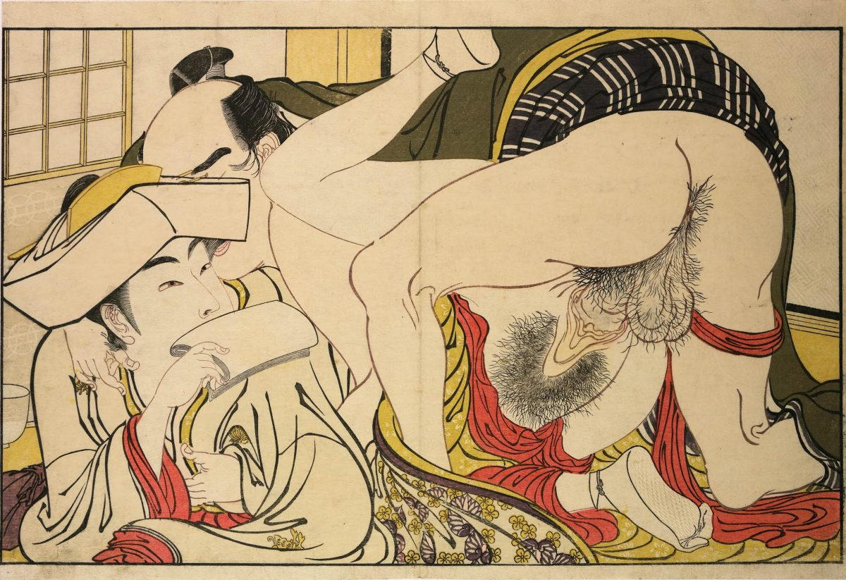 Utamakura Kitagawa Utamaro poem of the pillow sex